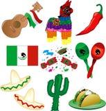 mexikansk deltagare stock illustrationer