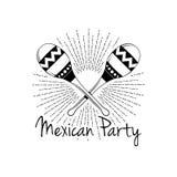 mexikansk deltagare Maracas i strålsymbol också vektor för coreldrawillustration vektor illustrationer