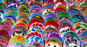 mexikansk keramik Fotografering för Bildbyråer