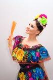 mexikansk kvinna arkivbild