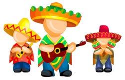 mexikansk pop för grupp Vektor Illustrationer