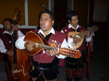 mexikansk sångaregata för callejonadas arkivbilder