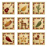mexikanska fyrkanter Arkivbild