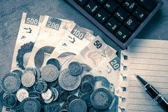 mexikanska pesos Fotografering för Bildbyråer