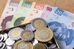 mexikanska pesos Arkivfoto