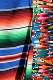 mexikanska serapes Arkivfoto