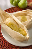 mexikanska verkliga tamales Arkivbild