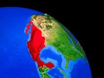 Mexiko auf Planet Erde vektor abbildung