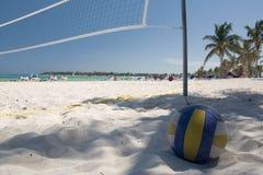 Mexiko auf Strand valleyball Netz Stockfotografie