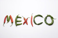 Mexiko, chiles serranos Stockbilder