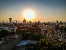 Mexiko City, Mexiko - 21. Januar 2019 Luftfoto von Colonia Rom und von Narvarte lizenzfreie stockfotos