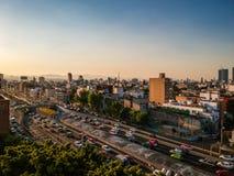 Mexiko City, Mexiko - 21. Januar 2019 Luftfoto von colonia Rom lizenzfreies stockfoto