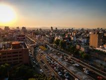 Mexiko City, Mexiko - 21. Januar 2019 Luftfoto von colonia Rom lizenzfreie stockfotografie
