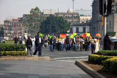Mexiko City, Mexiko - 24. November 2015: Politischer Protest in Zocalo-Quadrat, Mexiko City Lizenzfreie Stockbilder