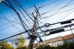 Mexiko City, Mexiko - 24. Oktober 2018 Elektrisch in der Straße stockfotografie