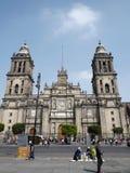 Mexiko- Citygroßstadtbewohner-Kathedrale Stockbild