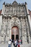 Mexiko- Citygroßstadtbewohner-Kathedrale Stockfoto