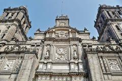 Mexiko- Citygroßstadtbewohner-Kathedrale Lizenzfreies Stockfoto