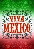 Mexiko för tappninggrungeviva affisch Arkivbild