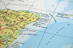 Mexiko-Karte Lizenzfreie Stockfotos