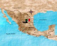 Mexiko-Karte Lizenzfreies Stockbild