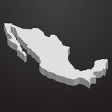 Mexiko-Karte im Grau auf einem schwarzen Hintergrund 3d stock abbildung