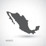 Mexiko-Karte und Kommunikations-Hintergrund-Vektor Stockfotos
