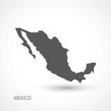 Mexiko-Kartenvektorillustration Lizenzfreie Stockbilder