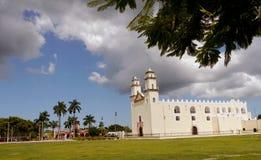 Mexiko-Kirchenkathedrale Mérida-Colonialarchitektur Stockfotografie