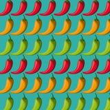 Mexiko-Kulturikonen in der flachen Designart, Vektorillustration Stockfoto