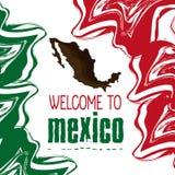Mexiko-Kulturikonen in der flachen Designart, Vektorillustration Stockbilder