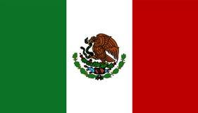 Mexiko-Markierungsfahne Stockbild