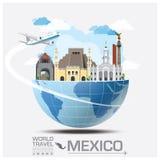 Mexiko-Markstein-globale Reise und Reise Infographic Stockbilder