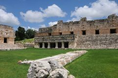 Mexiko - Mayasite von Uxmal lizenzfreies stockfoto