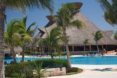Mexiko Pool und caffe Stockfotos