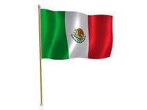 Mexiko-Seidemarkierungsfahne Stockfoto