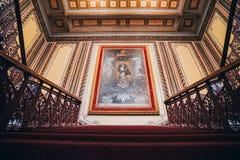 MEXIKO - 24. SEPTEMBER: Klassische Malerei innerhalb Juarez-Theaters lizenzfreie stockfotos