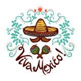 Mexiko-Skizzen-Illustration Lizenzfreie Stockfotos