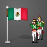 Mexiko-Unabhängigkeitstaghintergrund Lizenzfreies Stockbild