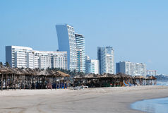 Mexikos Strand-Skyline Stockbild