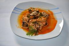 Mexilhões conservados deliciosos Foto de Stock