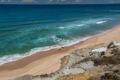 Mexilhoeira beach in Santa Cruz, Portugal. Royalty Free Stock Images