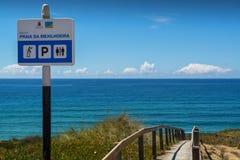 Mexilhoeira beach in Santa Cruz, Portugal. Royalty Free Stock Photo