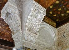 Mexuar霍尔在阿尔罕布拉宫宫殿,格拉纳达,西班牙 免版税库存图片