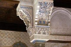 Mexuar霍尔,阿尔罕布拉宫细节Nasrid宫殿的 格拉纳达, Sp 库存图片