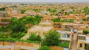Meybod city aerial Iran stock video footage