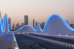 Meydan桥梁在迪拜 免版税库存图片