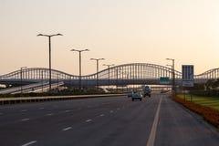 Meydan Bridge and highway in Dubai Stock Image