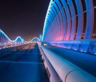 Meydan Bridge at night Stock Image