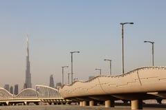 Meydan most i linia horyzontu Dubaj Obrazy Royalty Free